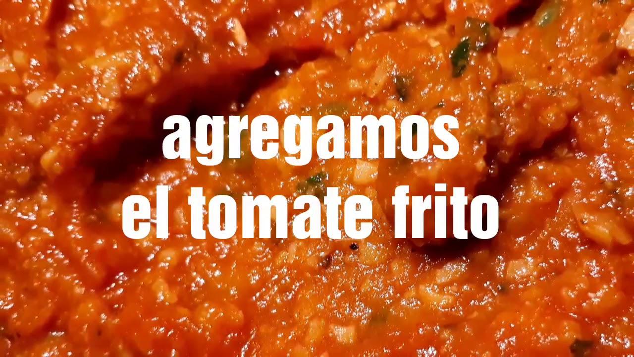 garbanzos con salsa boloñesa