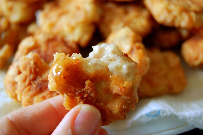 nuggets de pollo frito