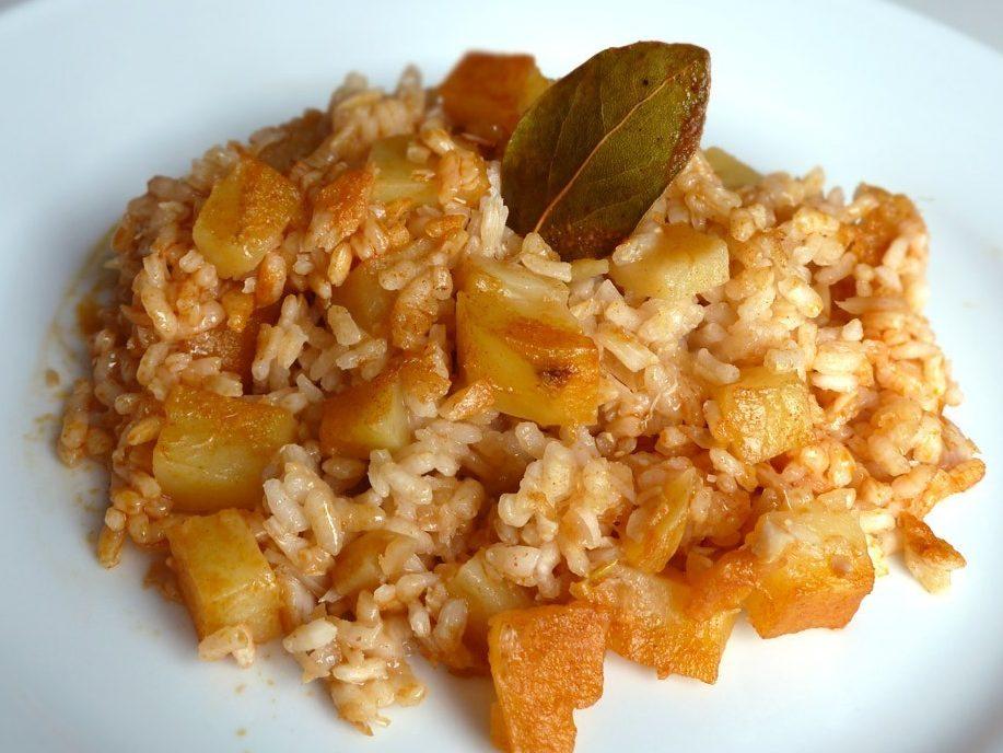 patatas con bacalao y arroz