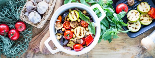 Parillas de verduras al horno